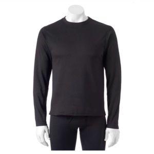 Micro fleece performance thermal layer crew shirt